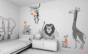 Kids Bedroom Accessories Should Be Available Jungle Friends Wall Stickers For