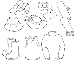 Clothes And Shoes Great Coloring Pages