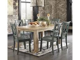 signature design by ashley mestler 7 piece table set with antique