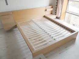 Bedroom Design Exciting Oak Wood Ikea Malm Bed Frame And Bed Side