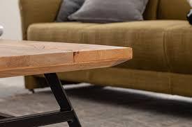 finebuy couchtisch mango massivholz metall 110x42 5x60 cm wohnzimmertisch tisch rustikal echtholz und edelstahl moderner sofatisch massiv