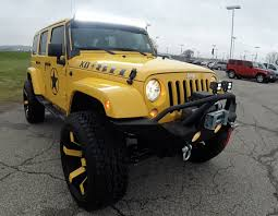 2015 Jeep Wrangler Unlimited Sahara Custom Lifted Yellow ...