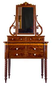 mahogany and birds eye maple dressing table with mirror baltimore