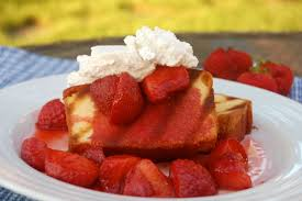 Grilled Pound Cake with Balsamic Strawberries