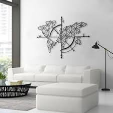 Image Is Loading Metal World Map 3D Wall Art Decor Home