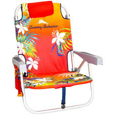 Folding Beach Chairs At Bjs by Amazon Com Tommy Bahama Backpack Beach Chair Red Kitchen U0026 Dining