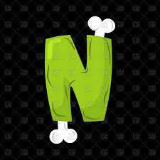 Letter N Zombie Font Vector Image Of Fonts Type © Maryvalery