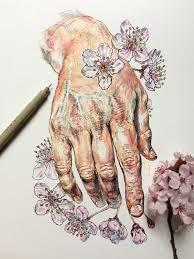 Hands And Flowers Les Illustrations Poetiques De Noel Badges Pugh Image