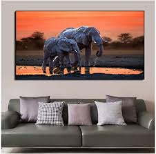 hsffbhfbh bild wandkunst afrikanische elefanten