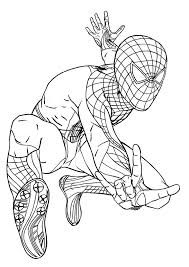 Spiderman Spider Coloring Pages Online Man Woman Free Printable Kids Print