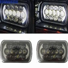 7x6 inch led headlights bulb for 86 95 jeep wrangler rectangular