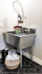 Stainless Steel Utility Sink With Legs by Small Sink For Laundry Room