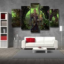 World Of Warcraft Mage Character Artwork Cool Game 5pc Wall Art Prints Gaming Geek Kingdom