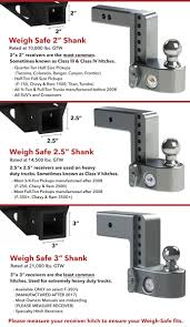 100 Hitches For Trucks Weigh Safe Trailer Drop Hitch AwardWinning Tongue Weight Scale