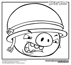 Angry Bird Pigs Coloring Pages For Kids