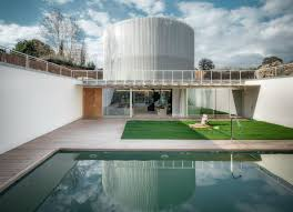 Futuristic Home Made Of Massive Steel Cylinders Hides Two Houses ... Architecture Futuristic Home Design With Arabian Nuance Awesome Decorating Adorable Houses Bungalow Cool French Interior Magazines Online Bedroom Ipirations Designs 13 White Villa In Vienna Homey Idea Unique Small Homes Unusual Large Glass Wall 100 Concepts Fascating Living Room Chic Of Nice 1682 Best Around The World Images On Pinterest Stunning Japanese Photos Ideas Best House Pictures Bang 7237