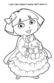 Free Printable Princess Dora Christmas Coloring Page