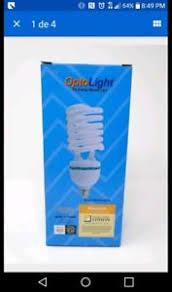 200w optolight large cfl light bulb 45w 3600k warm grow 45 200