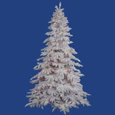 Pre Lit White Flocked Christmas Tree by Amazon Com Vickerman A893677 Unlit Flocked Lime Fir Artificial