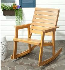 OUTDOOR PATIO ROCKING Chair Acacia Wooden Frame Armchair UV ...