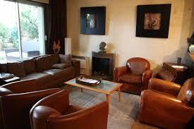 canape cuir rustique univers décoration salon rustique à canape cuir et meuble salon
