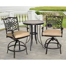 Hanover Monaco 3-Piece High-Dining Bistro Set, MONDN3PCSW-BR Pub Tables Bistro Sets Table Asuntpublicos Tall Patio Chairs Swivel Strathmere Allure Bar Height Set Balcony Fniture Chair For Sale Outdoor Garden Mainstays Wentworth 3 Piece High Seats Www Alcott Hill Zaina With Cushions Reviews Wayfair Shop Berry Pointe Black Alinum And Fabric Free Home Depot Clearance Sand 4 Seasons Valentine Back At John Belden Park 3pc Walmartcom
