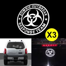 100 Cool Truck Stickers 3pcs ZOMBIE OUTBREAK RESPONSE TEAM 6 Die Cut For Drift Off