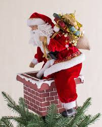 Unlit Christmas Tree Toppers by Jolly Saint Nick Tree Topper Balsam Hill