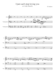 I Just Cant Stop Loving You Sheet Music For Voice Cello Download