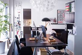 Ikea Living Room Ideas 2011 by A Home Office Inside The Living Room With Desk In Ash Veneer And