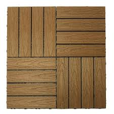 newtechwood naturale composite interlocking deck tiles in peruvian