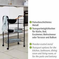 кухонная сервировочная тележка rollwagen kchenwagen servierwagen beistellwagen 3 etagen kche badezimmer