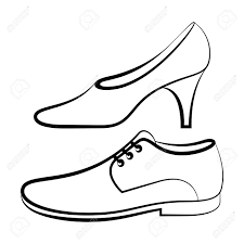 Dress Shoes Clipart Black And White