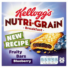 Kelloggs Nutrigrain Blueberry 6 X 37g From Ocado
