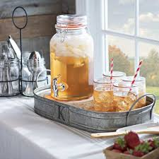 Serve Your Favorite Drinks In Rustic Beverage Dispenser And Cute Mason Jars