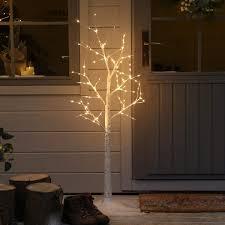 Outdoor Battery Festoon Lights 10 Warm White LEDs Clear Bulbs 45m