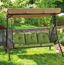Kroger Patio Furniture Replacement Cushions by Beale Street 3 Seat Swing From Kroger Atlanta 011 139 99 Im