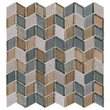 American Olean Mosaic Tile Colors by American Olean Loren Place 12 In X 13 In Utopia Blend Glass And