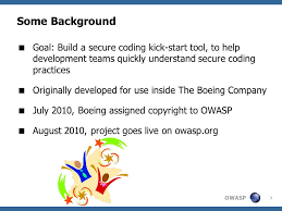 Boeing Enterprise Help Desk by Owasp Secure Coding Practices Quick Reference Guide Ppt Video