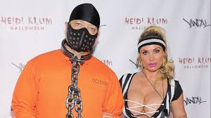 Heidi Klum Halloween Clones by Coco Austin Rocks Barely There Halloween Referee Costume At Heidi