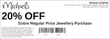 Coupons | New Jewellery Ideas Michaels Art Store Coupons Printable Chase Coupon 125 Dollars 40 Percent Off Deals On Sams Club Membership 2019 Hobby Stores Fat Frozen Coupon 50 Off Regular Priced Item Southern Savers Black Friday Ads Sales Doorbusters And 2018 Entire Purchase Cluding Sale Items Free Any One At Check Your Team Shirts Code Bydm Ocuk Oldum Price Of Rollections
