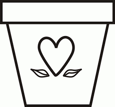Flower Template Or Coloring Page Flowers In Pot Coloring Page