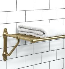 Cast Brass Train Rack For Bathroom With Shelf And Towel Rail ... Bathroom Shelving Units Shower Rack Walmart Pottery With Barn Canfield Hdware Rejuvenation Tile Tips For A Better Train Chrome Luggage Towel Railway Shelf With Bar Au Pottery Barn Train Rack Ideas Pinterest 2perfection Decor Ensuite Reno Reveal Taymor 02d1047corb Paris Hotel Or Style Extraordinary Otographs Mirror New Vintage Ashland Fixture Ebay Wall Mounted Wine Glass Your Bath Hotelstyle