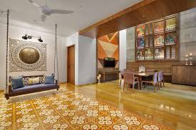 100 Traditional Indian Interiors A Colour Rich Home With Concrete Architecture And