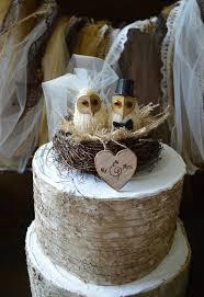 Owls Wedding Cake Topper Barn Rustic OWLS