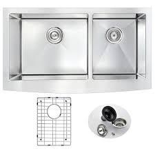Ferguson Stainless Steel Kitchen Sinks by Kraus Undermount Stainless Steel 33 In 60 40 Double Basin Kitchen