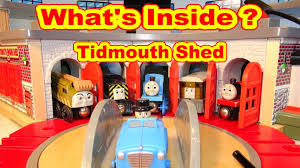 Tidmouth Sheds Deluxe Set by What U0027s Inside Deluxe Tidmouth Sheds With Thomas And Friends Toby