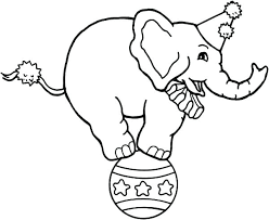 Full Image For Circus Coloring Pages Preschool Elephant Sheets Free