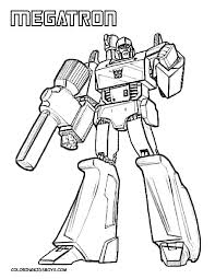 Transformers Coloring Pages Megatron Batonhandoffcom