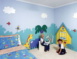 Kids Room Simple Wall Murals For Painting Bedroom And Interior Designing